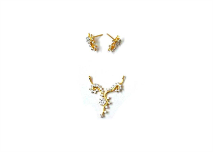 Gold Plated | CZ Studded Pendant Sets