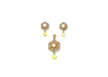 Gold Plated | Filigree Pendant Set
