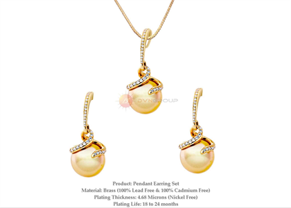 Gold Plated | Pearl Pendant Sets