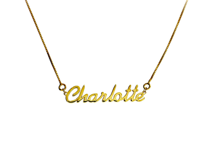 Gold Plated Personalized Font Name Pendant