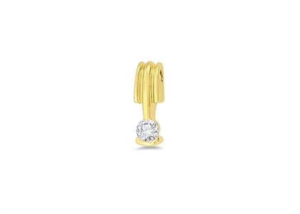 Gold Plated | Solitaire Stud Pendants