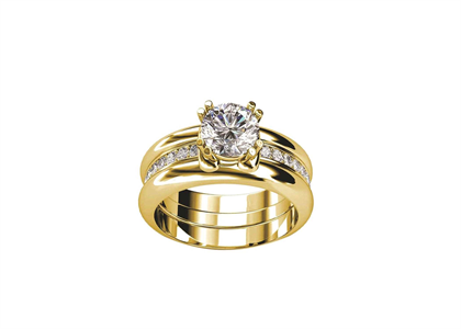 Gold Plated Bridal Set Ring