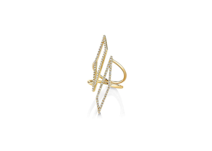Gold Plated CZ Studded Ring