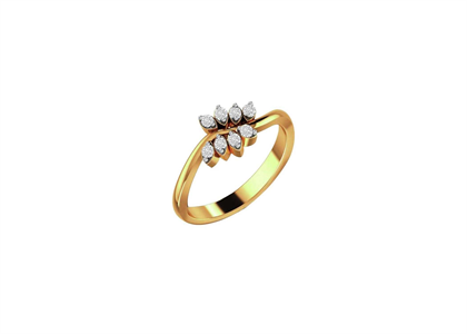 CZ Studded Ring