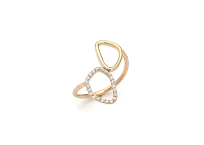 14 KT Yellow Gold Plated Delicate Ring