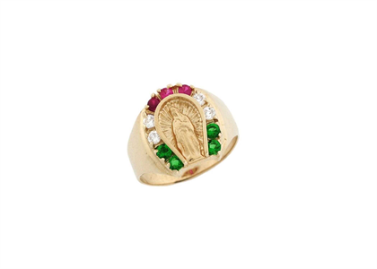 Virgin Mary Horseshoe Ring