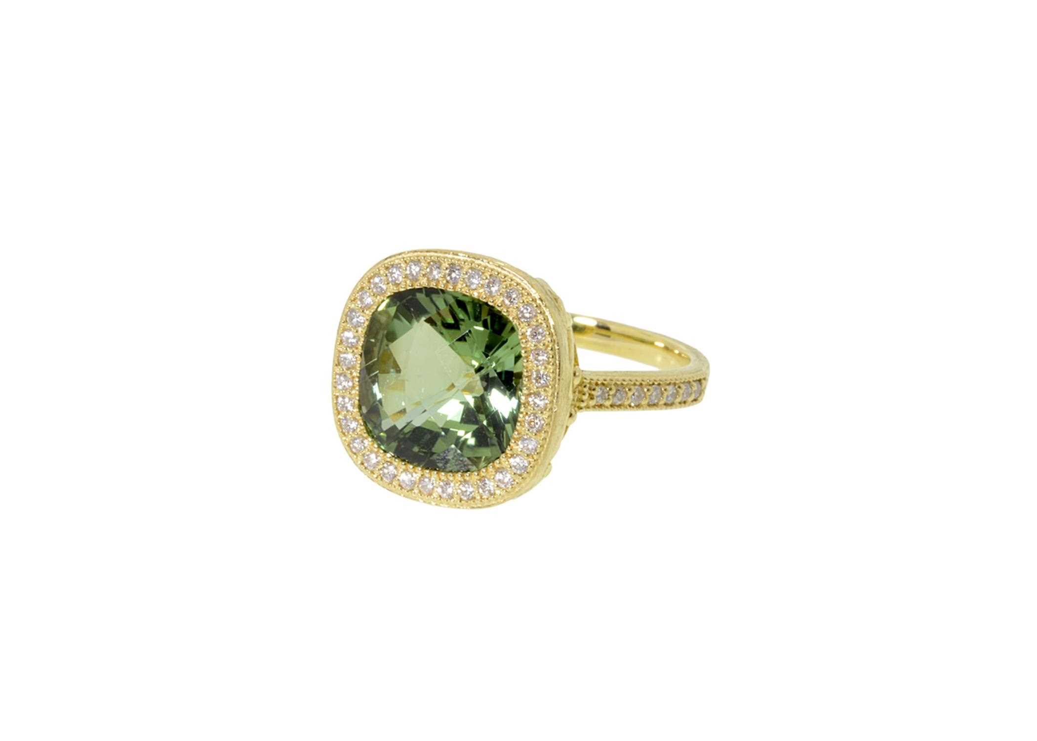 band rings size shank estate is gold in and vintage yellow weighs approx stone a oval img measures gemstone tourmaline this green three ring grams diamond the
